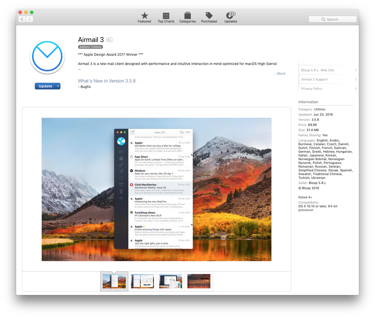 Airmail Lightning Fast Mail Client For Mac And Iphone Mooi Printing Premium Sweater Top Garden Bunny M Apple The Logo Macbook Pro Imac Are Trademarks Of Inc Registered In Us Other Countries App Store Is A Service Mark